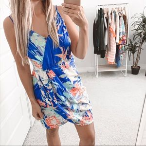 Yumi Kim Jayne Tulip Floral Dress Blue Hawaii